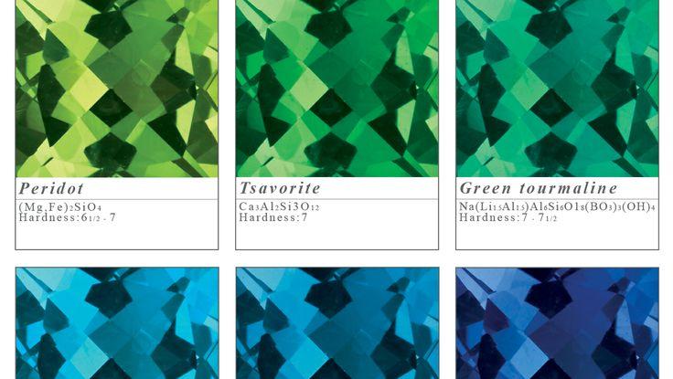 Pick your favourite colour! Peridot, tsavorite, green tourmaline, sky blue topaz, london blue topaz and blue sapphire.