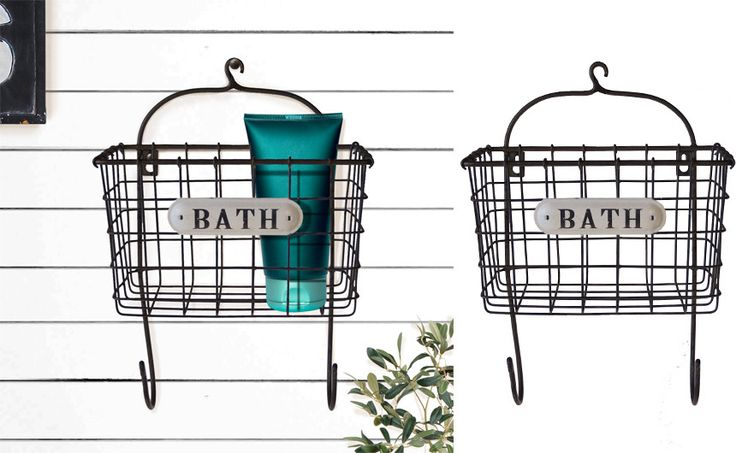 Metal Wall Organizer, Farmhouse and Barnyard Décor, Home and Garden Décor, French Country, Mounted Wall Organizer, Metal Wall Organizer, Decorative Metal Wire Baskets, Storage, Industrial, Rustic