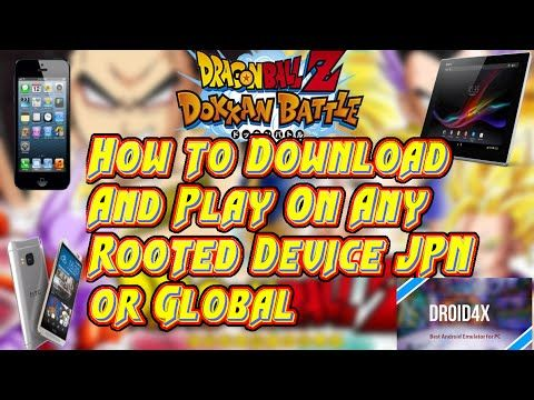 How To Play DragonBall Z Dokkan Battle JPN Or Global on any rooted Device