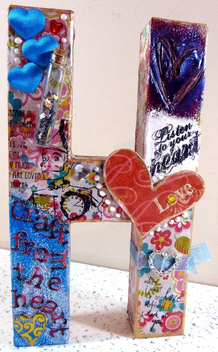 Viva plast wooden colours - Michelle Webb The Hobby Room Uk Altered Decopatch Letter