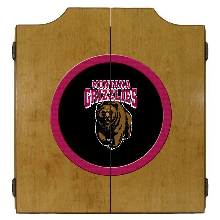 Montana Grizzlies Dart Board and Bristle Board