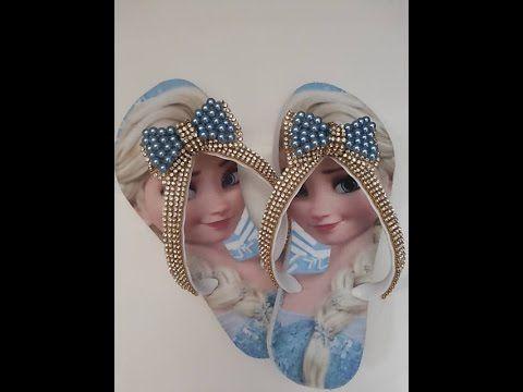 Chinelo Infantil modelinho Páscoa com um lindo COELHINHO - YouTube