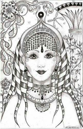 Coloring Woman Face India Inspiration From The Gallery Bollywood
