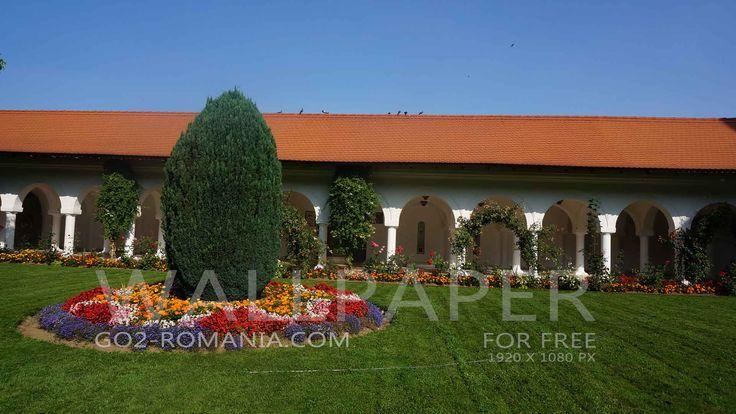 Wallpaper Constantin Brancoveanu Monastery Sambata de Sus 1920x1080px