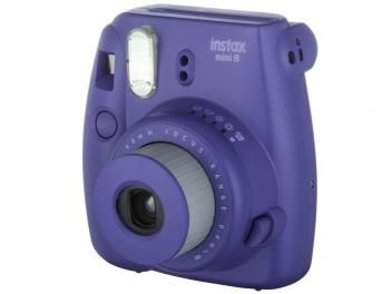 Câmera Instantânea Fujifilm Instax Mini 8 Uva - Flash Automático