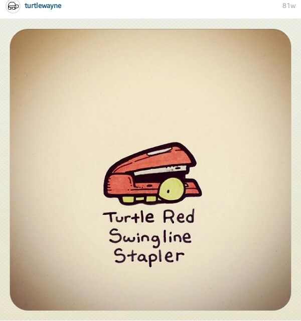 Turtle Red Swingline Stapler @turtlewayne