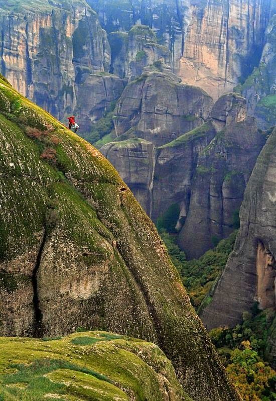 Climbers of the holy rocks by Cretens- Meteora, it is also one of the best regions in Greece for climbing.