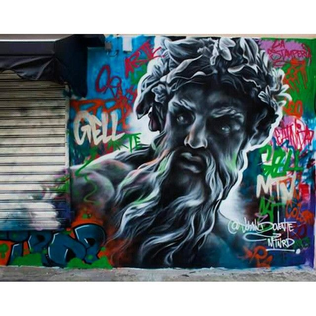 Best Street Art Images On Pinterest Urban Art Graffiti Art - Beautiful giant murals greek gods pichi avo