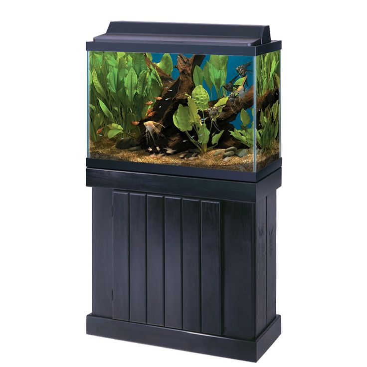 All Glass Aquarium Co. Cabinet Stand Pine 30 x 28 Inch High Black
