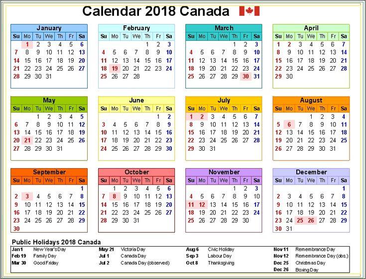 Calendar Ontario : Canada holidays calendar pinterest