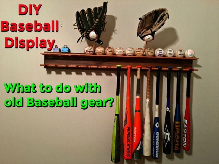 Are you a baseball/softball parent who has lots of old equipment you no longer use?  Is this equipment cluttering your garage or shed and you don't know what to do with it?  Sentimental value prevents you from placing these items in the trash & new technology advances in baseball equipment each year make it difficult to give it away.  Learn how to build a baseball bat display rack to solve these problems.