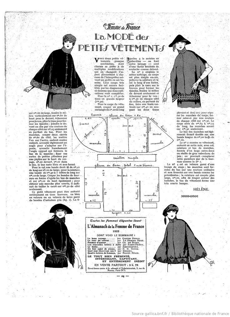 Manteau kimono (La Femme de France 01/01/1922)
