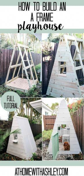 diy a frame play house this outdoor playhouse is easy and cheap to rh pinterest com