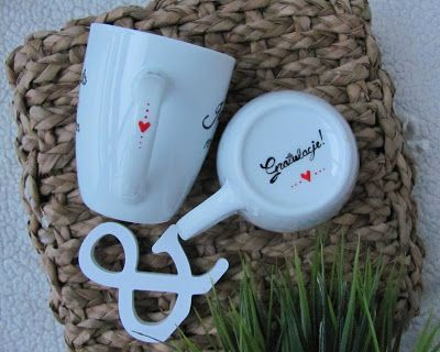 Kubki na ślub! Wedding mugs. #komodapomyslow #mug #kubek #kubki #mugs #love #wedding #idea #gift