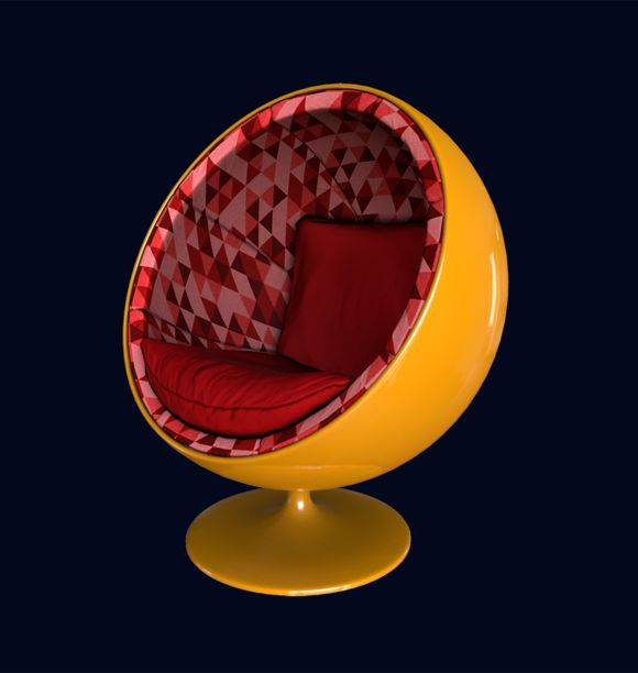 Egg chair by InfiniteTriangleArt on Creative Market