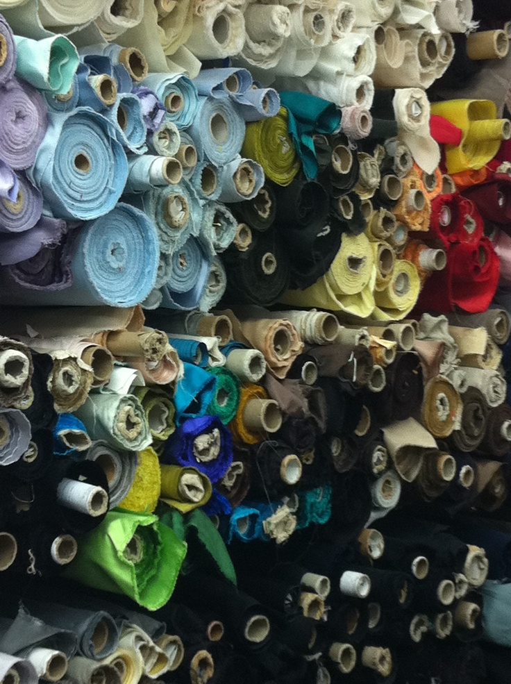 Mood Designer Fabric Store NYC-  A dream to go to Fashion District without hubby.   LOL
