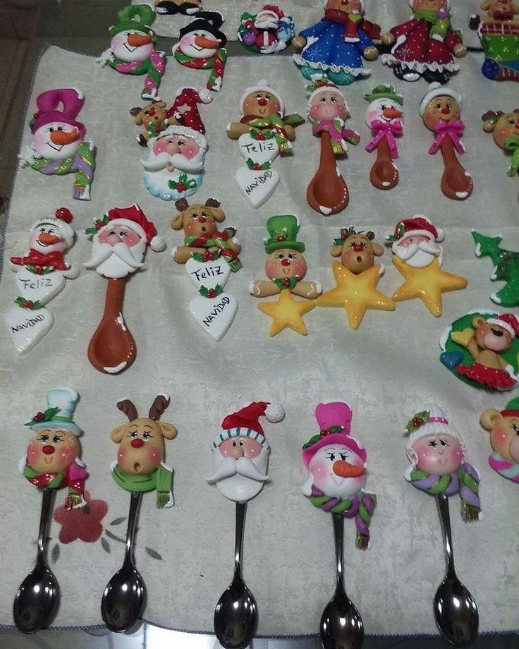 Resultado de imagen para adornos navideños en porcelana fria pinterest