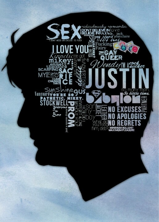 Can we just talk about how Justin's name is bigger than everything else in his mind.