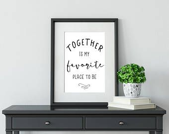 Together is my favorite place to be wedding sign, home decor sign, newlywed sign, lovebird sign, happily married sign -    Edit Listing  - Etsy