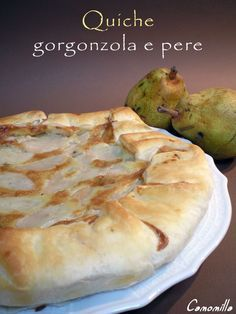 quiche gorgonzola e pere       #recipe #juliesoissons