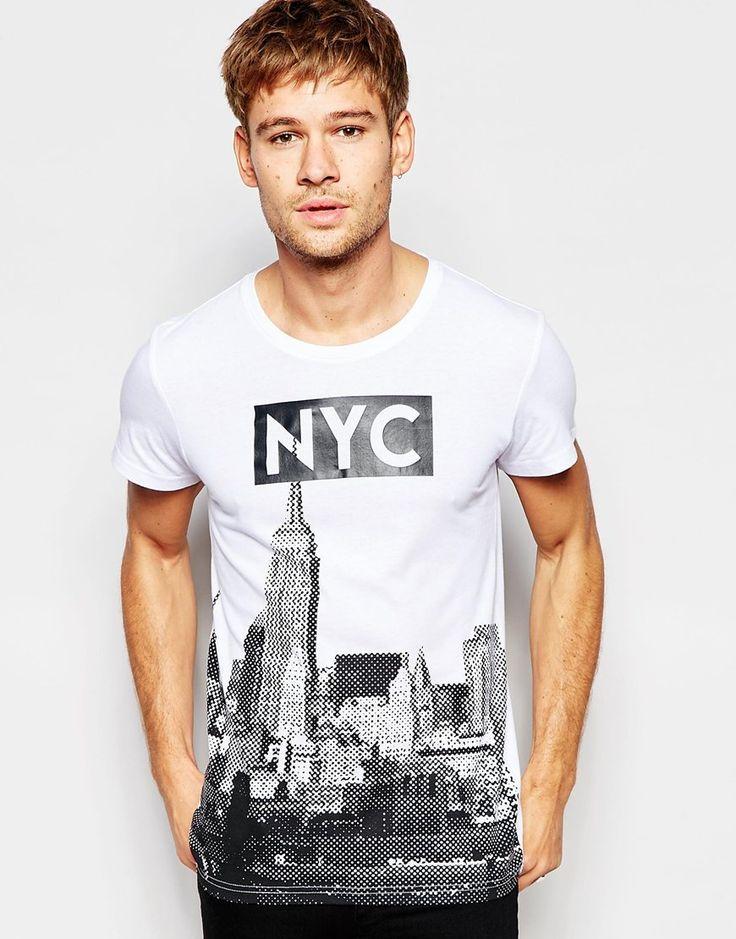 Imagen 1 de Camiseta con cuello redondo con estampado NYC de Esprit