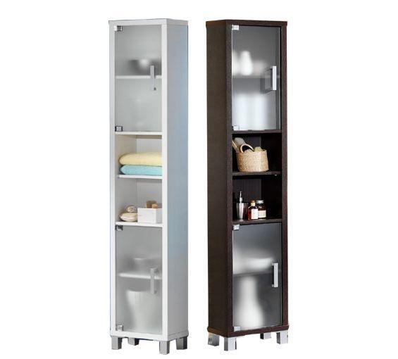 Estanter a de ba o con dos puertas de cristal disponible - Puertas para estanterias ...