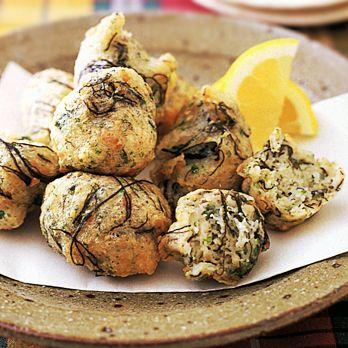 大和いもともずくの落とし揚げ | 吉田瑞子さんのおつまみの料理レシピ | プロの簡単料理レシピはレタスクラブネット