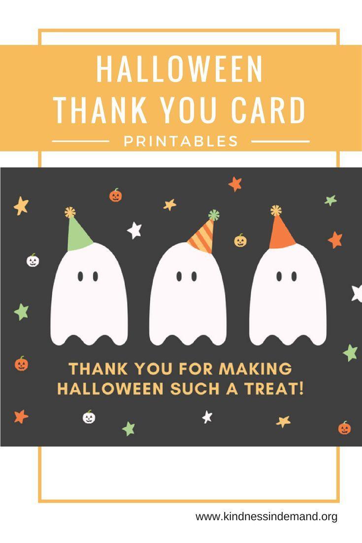 free halloween thank you card printables halloween halloween rh pinterest com