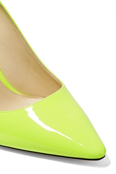 Jimmy Choo - Romy Patent-leather Pumps - Bright yellow - IT36.5