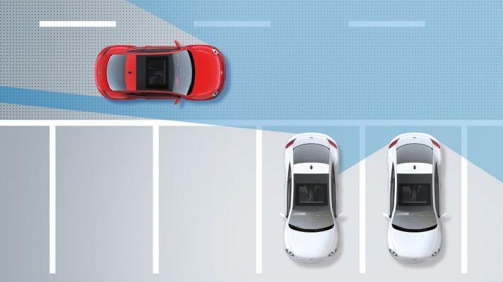 Volkswagen Beetle Monitor de ángulo muerto con alerta de tráfico trasero