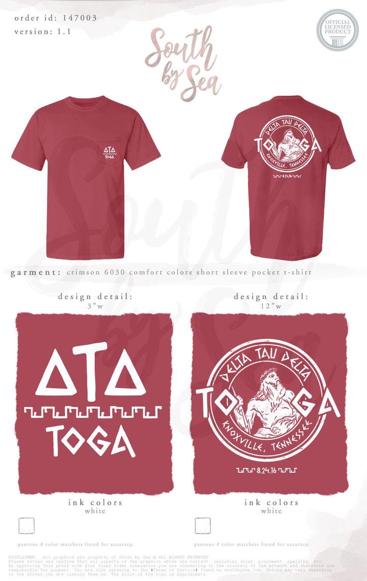 T shirt design jackson ms - Detla Tau Delta Toga Social Design Mixer Date Night Party
