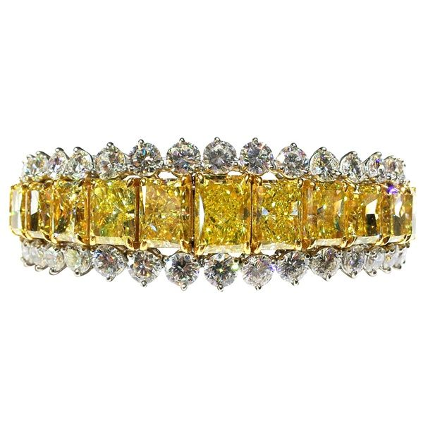 1990 Fancy Yellow Diamond Bracelet