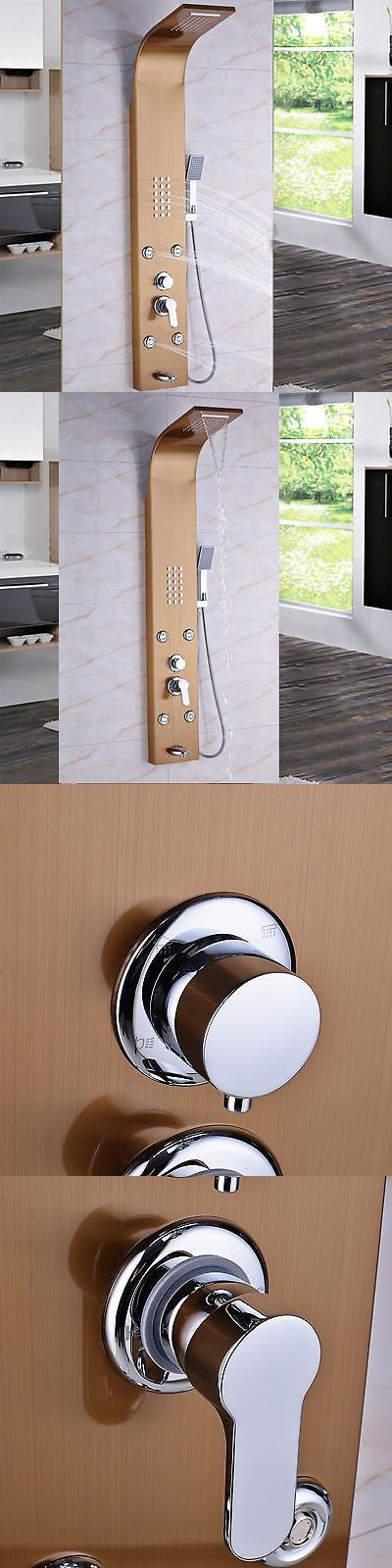Shower Panels and Massagers 121849: Rose Gold Stainless Steel Rain Waterfall Shower Column Panel Body Jets Mixer Tap -> BUY IT NOW ONLY: $92 on eBay!