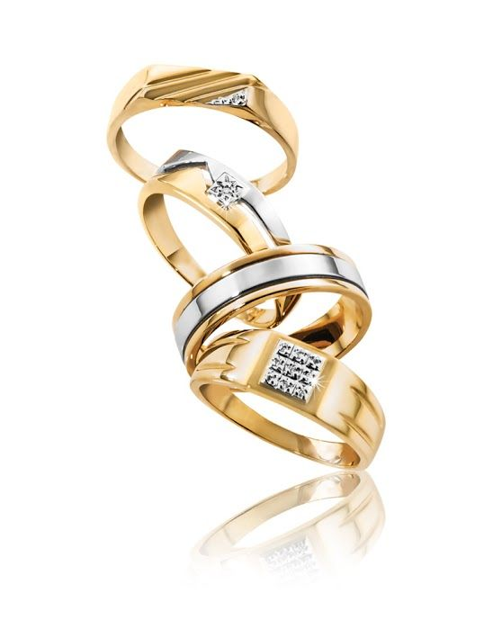 9ct Gold Rings  From Top: R2,379, R2,899, R4,680 and R3,237  *Prices Valid Until 25 Dec 2013