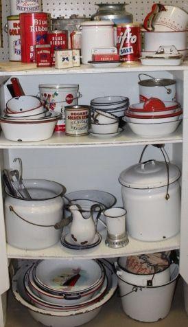 Vintage Enamelware & Tins