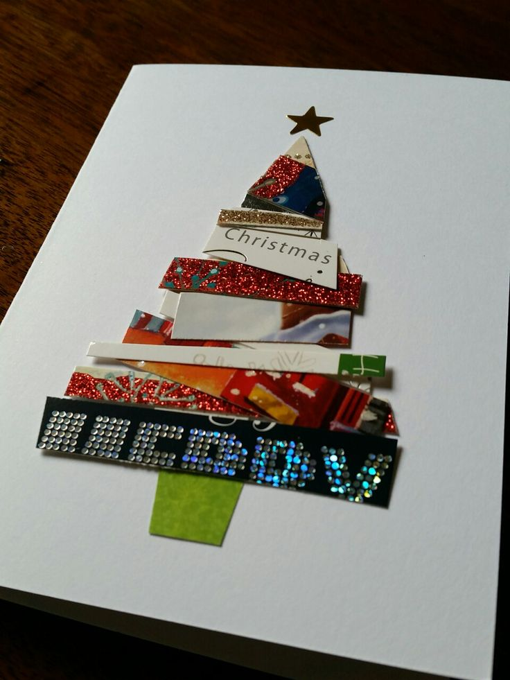 1000 ideas about recycled christmas cards on pinterest for Crafty christmas cards ideas