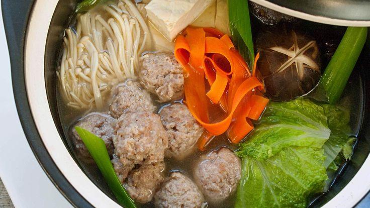 Japanese Chicken Meatball Hot Pot