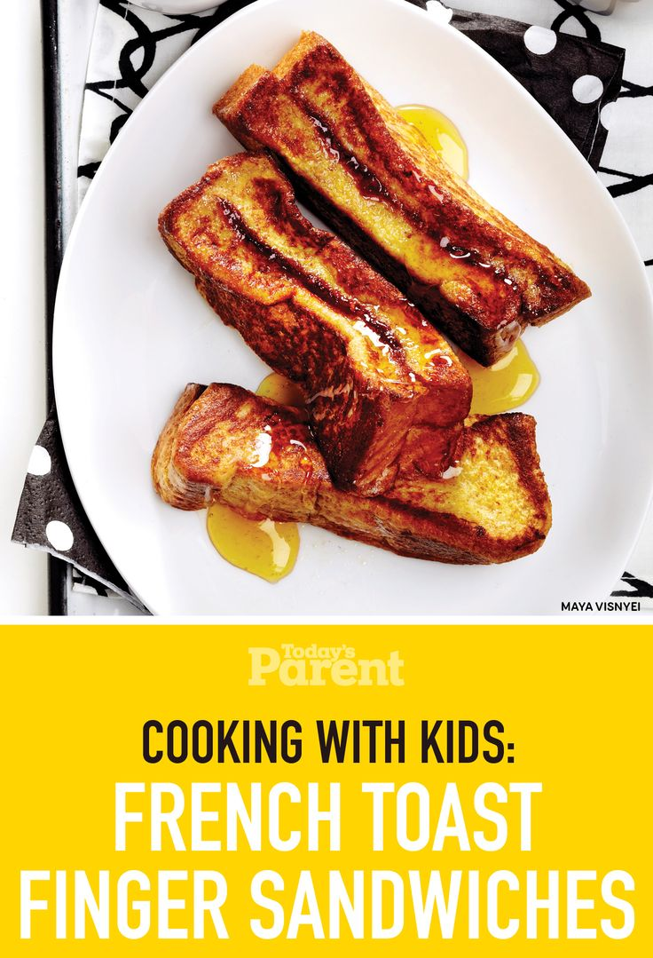 Cooking with kids: French Toast Finger Sandwiches