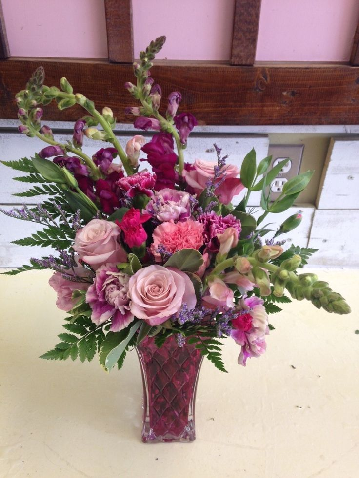 This arrangement is sweet and perfect for any occasion, birthday, get well, sympathy or just because.