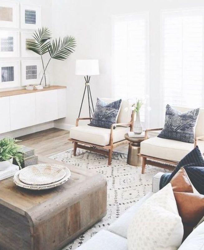 Scandinavian Bohemian Home Decor Eclectic Interiors Design Minimalism Maximalism Pattern Room Furniture Design Trendy Living Rooms Farm House Living Room