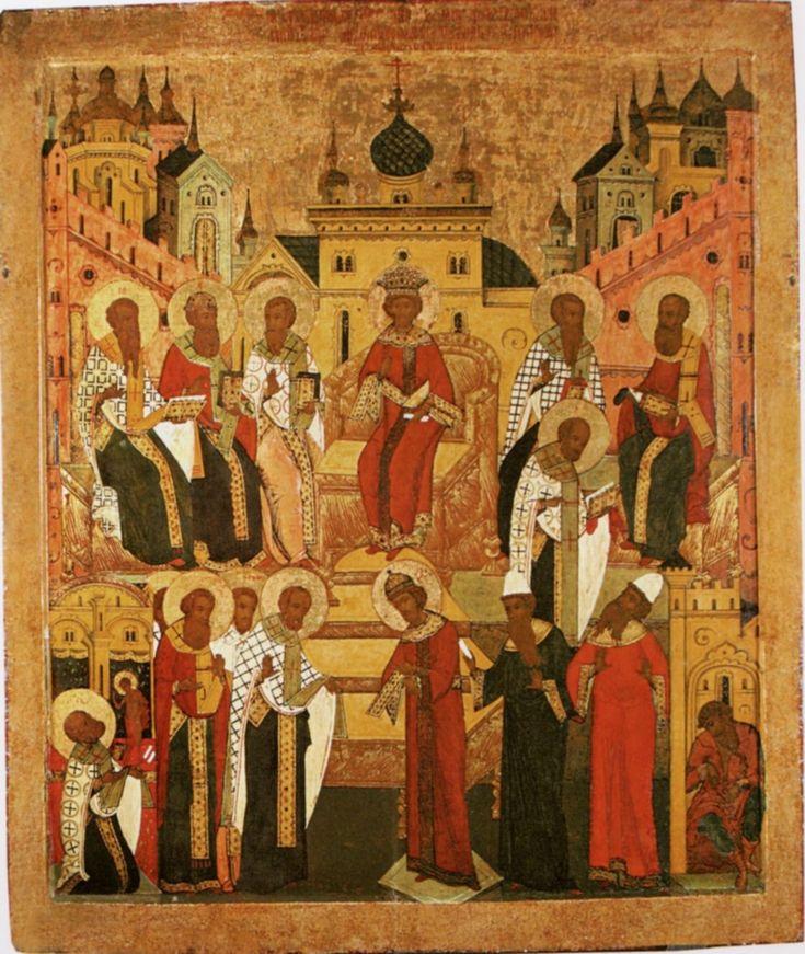 вселенский собор описание картины странице