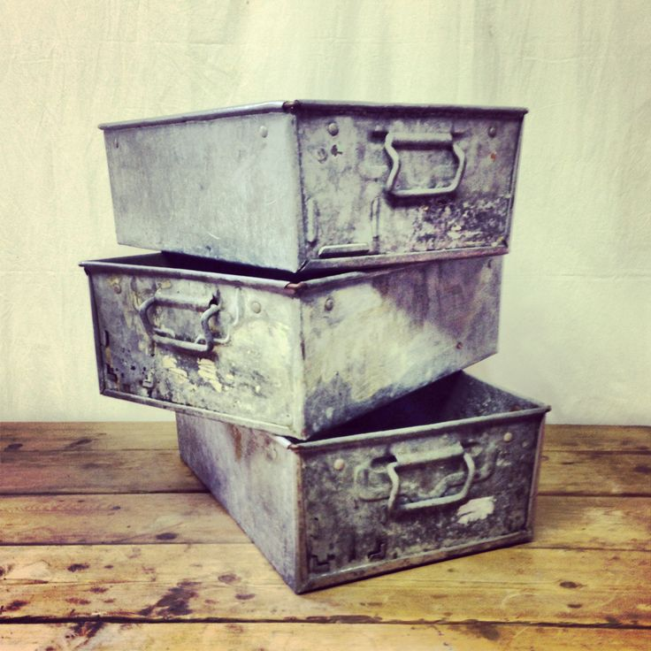 Antique English Steel Drawers - R1450 each