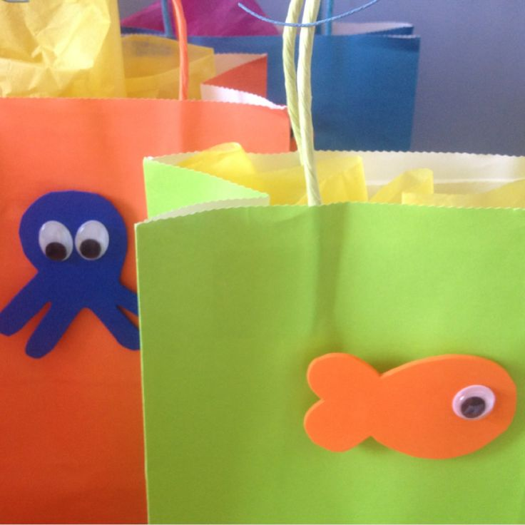 Juno's 1st birthday // Under the Sea party gift bags