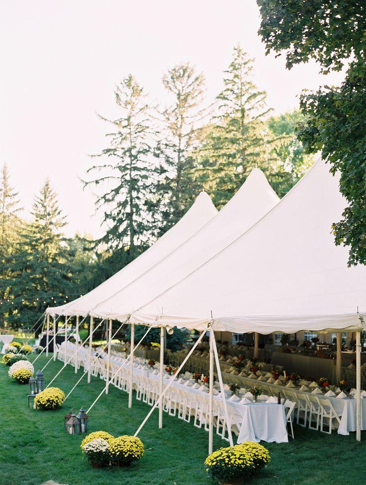Backyard Tent Reception Ideas