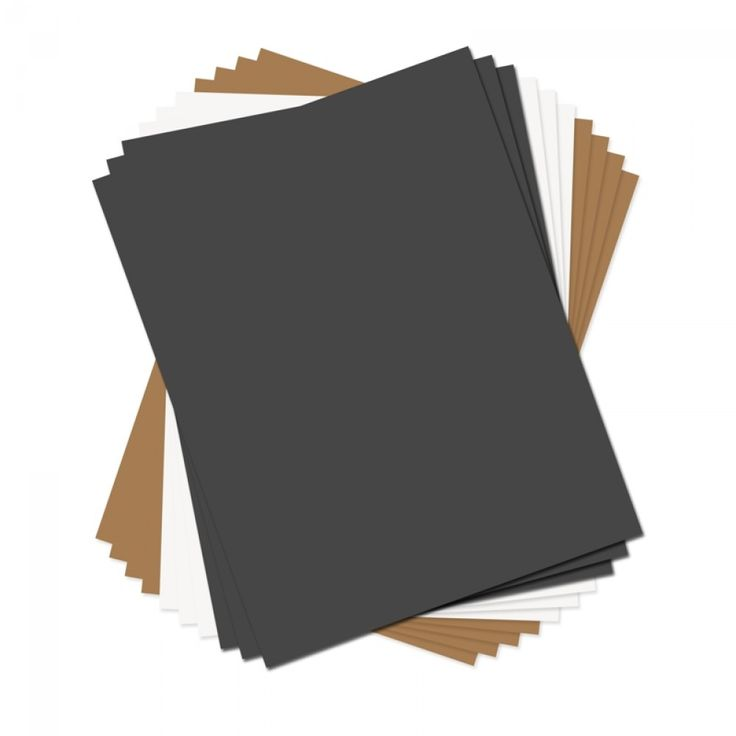"""Sizzix Paper Leather Sheets - 8 1/2"""" x 11"""" Assorted Basics, 10 Pack"""