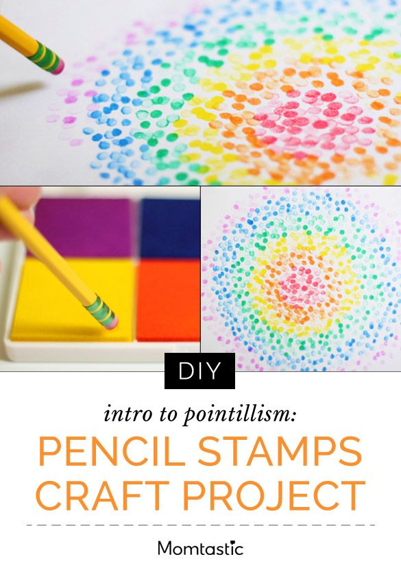 You most likely have everything you need for this project around the house, and this even works in coloring books, too. Come to think of it, it's a great intro to Pointillism (who knows, your kiddo could be the next Seurat!).