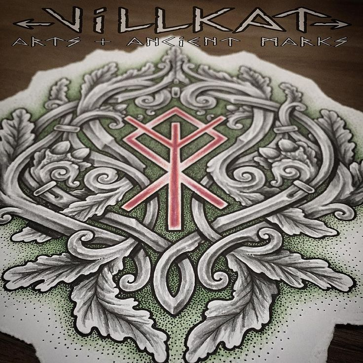 """This piece is dedicated to a very special oak tree in the wood, with a bind rune of Othala""""Othila"""" connections to heritage 'land and people. Algiz for protection and connectivity to spirit world :) #theoldways #northernheritage #nordic #viking #norse #vikingart #vikingtattoo #vikingnation #knotwork #celticknotwork #dotworker #dotworkerssubmission #paganart #rune #runes #othala #othila #algiz #bindrune"""