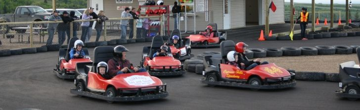 School group rates are available for go-karts at Cypress Hills Speedway.