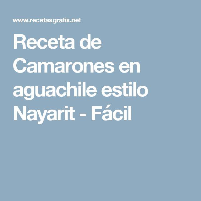 Receta de Camarones en aguachile estilo Nayarit - Fácil
