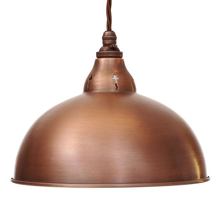 Butler Pendant Light in Heritage Copper